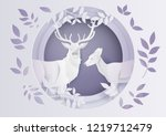 illustration of winter season... | Shutterstock .eps vector #1219712479