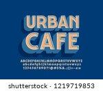 vector bright logo urban cafe.... | Shutterstock .eps vector #1219719853