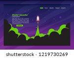 rocket launcher concept landing ... | Shutterstock .eps vector #1219730269