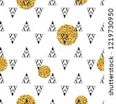 triangles and golden circles ... | Shutterstock .eps vector #1219730950