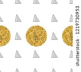 triangles and golden circles ... | Shutterstock .eps vector #1219730953