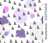 triangles and abstract color... | Shutterstock .eps vector #1219731013