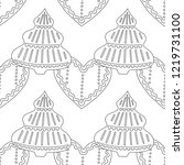 gingerbread. black and white...   Shutterstock .eps vector #1219731100