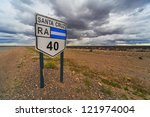 route   40  patagonia  argentina | Shutterstock . vector #121974004
