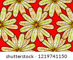 textile fashion  african print... | Shutterstock .eps vector #1219741150