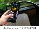 london england   huawei launch... | Shutterstock . vector #1219741723