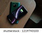 london england   huawei launch... | Shutterstock . vector #1219743103