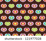 seamless pattern with hearts | Shutterstock .eps vector #121977028