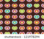 seamless pattern with hearts | Shutterstock .eps vector #121978294