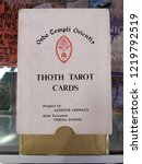 Small photo of San Diego, CA / USA - September 15 2018: Rare and hard to find tarot cards designed by none other than Mr. Aleister Crowley.
