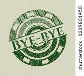 green bye bye rubber grunge... | Shutterstock .eps vector #1219801450