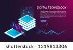 user interface for big data... | Shutterstock .eps vector #1219813306