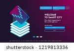 user interface for big data... | Shutterstock .eps vector #1219813336