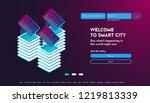 user interface for big data... | Shutterstock .eps vector #1219813339