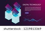 user interface for big data...   Shutterstock .eps vector #1219813369