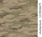 seamless camouflage pattern.... | Shutterstock .eps vector #1219818679