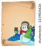 christmas snowman subject... | Shutterstock .eps vector #1219826626