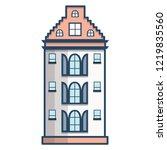 vector illustration with flat... | Shutterstock .eps vector #1219835560