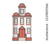 vector illustration with flat... | Shutterstock .eps vector #1219835566