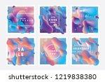 set of trending vibrant... | Shutterstock .eps vector #1219838380