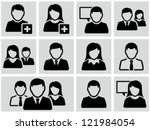 Business persons, businessman,  business woman. Icons set.