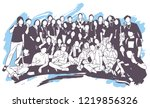 illustration of young people ... | Shutterstock .eps vector #1219856326