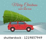 merry christmas and happy new... | Shutterstock .eps vector #1219857949