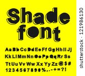 abstract shade font. vector... | Shutterstock .eps vector #121986130