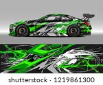 racing car wrap design vector....   Shutterstock .eps vector #1219861300