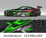 racing car wrap design vector....   Shutterstock .eps vector #1219861303
