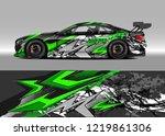 racing car wrap design vector....   Shutterstock .eps vector #1219861306
