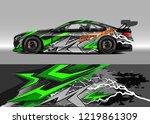 racing car wrap design vector....   Shutterstock .eps vector #1219861309