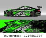 racing car wrap design vector....   Shutterstock .eps vector #1219861339