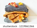 cold weather women's clothes.... | Shutterstock . vector #1219861366