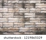 grunge old stone brick wall for ... | Shutterstock . vector #1219865329