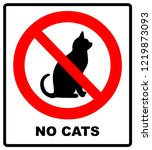 no cats.prohibiting sign... | Shutterstock . vector #1219873093