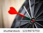 close up shot of the dart arrow ... | Shutterstock . vector #1219873753