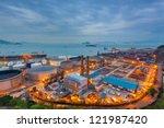 glow light of petrochemical... | Shutterstock . vector #121987420
