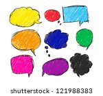 colorful bubble for speech  eps ... | Shutterstock .eps vector #121988383
