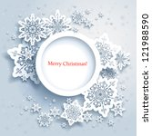 abstract design with snowflakes ... | Shutterstock .eps vector #121988590