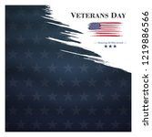 veterans day  november 11 ... | Shutterstock .eps vector #1219886566