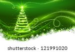 magic christmas tree. christmas ... | Shutterstock .eps vector #121991020