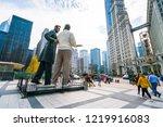 chicago.illinois usa. 08 16 17  ... | Shutterstock . vector #1219916083