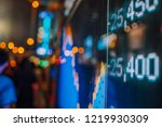 display stock market data | Shutterstock . vector #1219930309