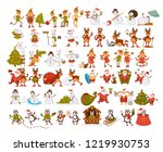 happy new year characters... | Shutterstock .eps vector #1219930753
