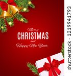 merry christmas and new year... | Shutterstock .eps vector #1219941793