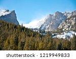 Wind Blows Snow On Sunny Day Near Hallets Peak In Rocky Mountain National Park Estes Park Colorado