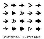 arrow sign icon set. vector... | Shutterstock .eps vector #1219951336
