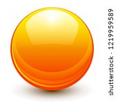 glass sphere  orange 3d vector... | Shutterstock .eps vector #1219959589