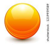 glass sphere  orange 3d vector...   Shutterstock .eps vector #1219959589